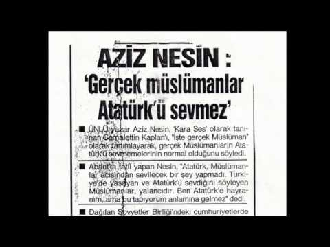 Aziz Nesin Atatürk Ve Gerçek Müslümanlar Youtube