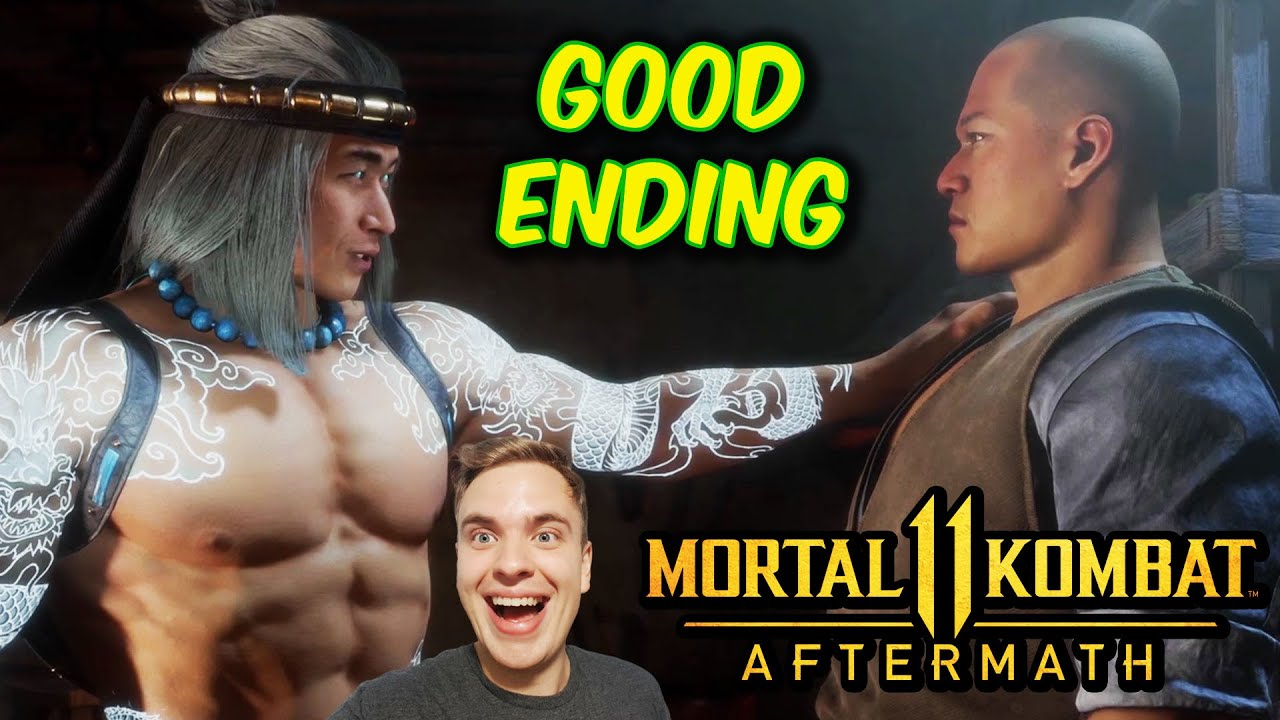MK11 Aftermath. The Good Ending. Choosing Liu Kang in Last Chapter.