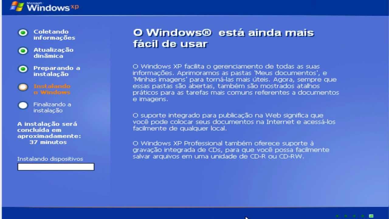 Instalar windows xp professional tutorial completo. Youtube.