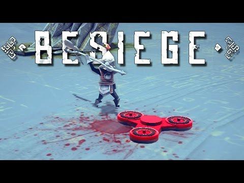 Besiege Creations! - Fidget Spinner, Floating Island, Vacuum Tank, and More! - Besiege Gameplay