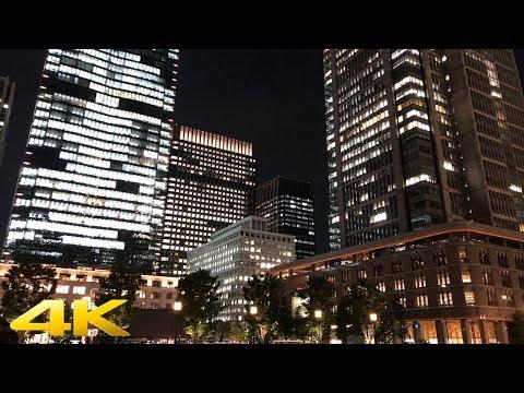 Tokyo station night walk 夜の東京駅散歩 - 4K
