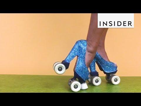 World Record Holder Rocks Roller Skate Heels