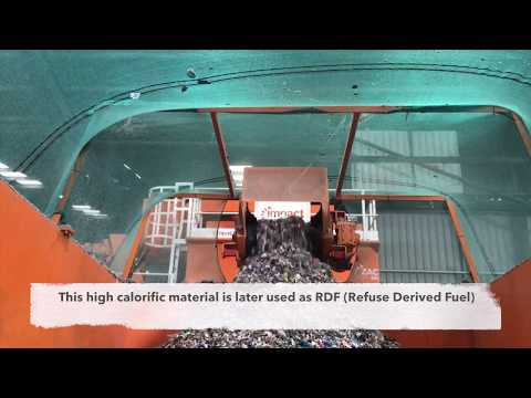 Glass And RDF Material Recovery From The Waste Stream