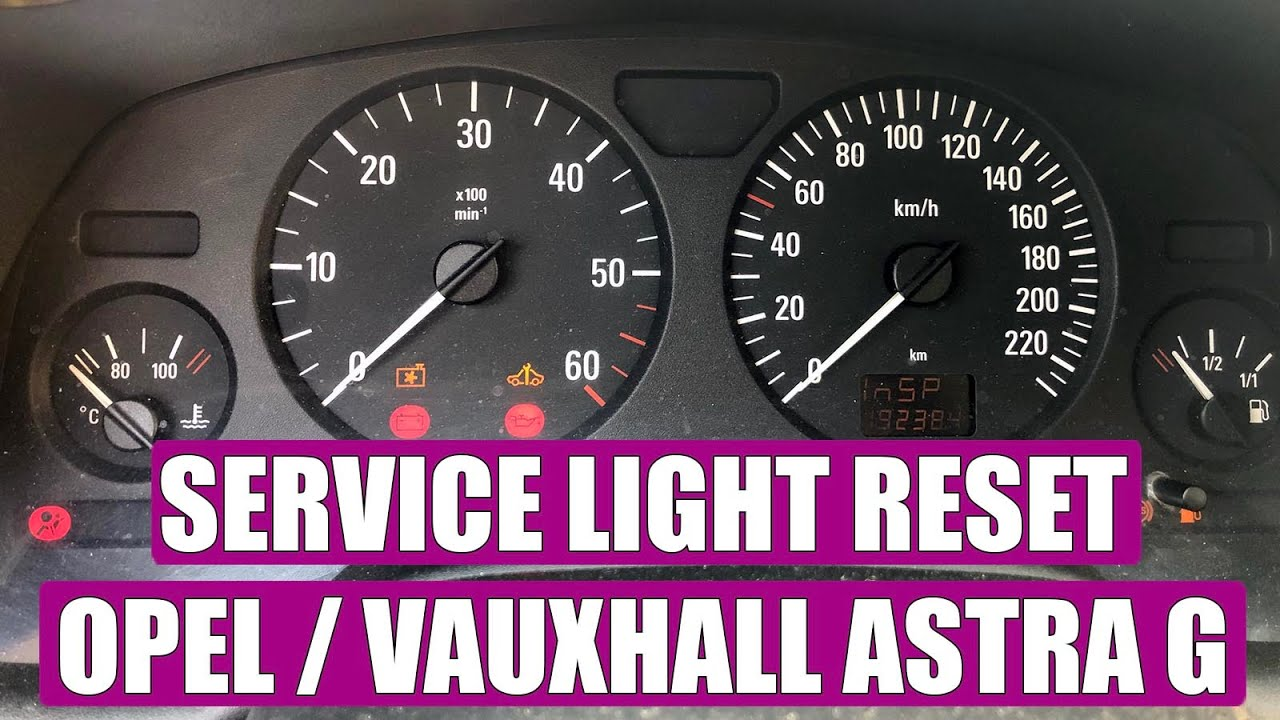 Astra G Lampen : How to reset service light oil service opel astra g corsa