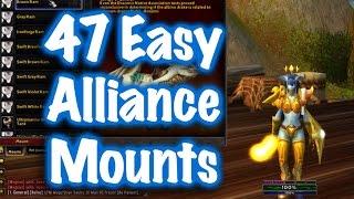 Jessiehealz - 47 Easy to Obtain Alliance Mounts Guide (World of Warcraft)