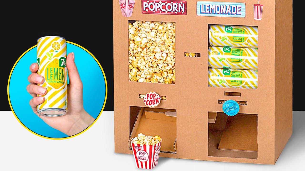 Превратите свой дом в кинотеатр с этим самодельным аппаратом для попкорна и газировки