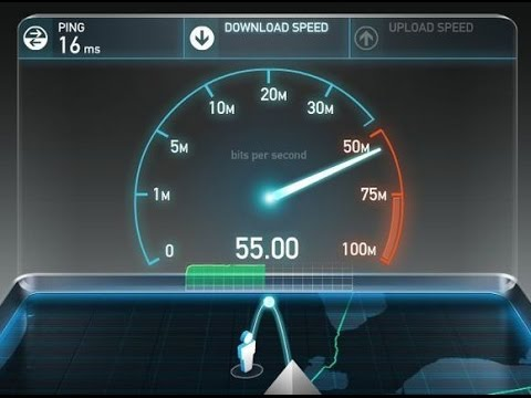 Test your internet speed with Speedtest