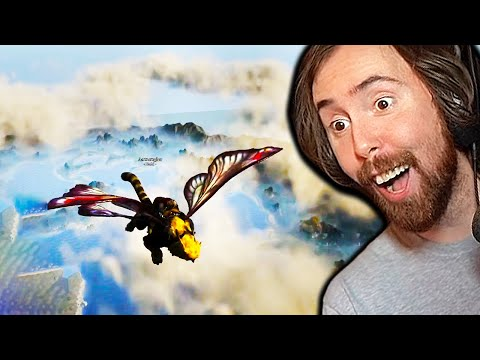 Flying in Ashes of Creation! Asmongold Explores a NEW MMO