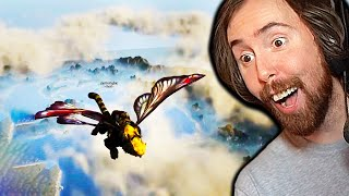 Flying to The Top of Ashes of Creation! Asmongold Explores a NEW MMO