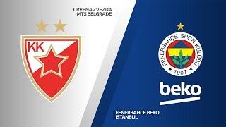 Crvena Zvezda mts Belgrade - Fenerbahce Beko Istanbul Highlights   EuroLeague, RS Round 2
