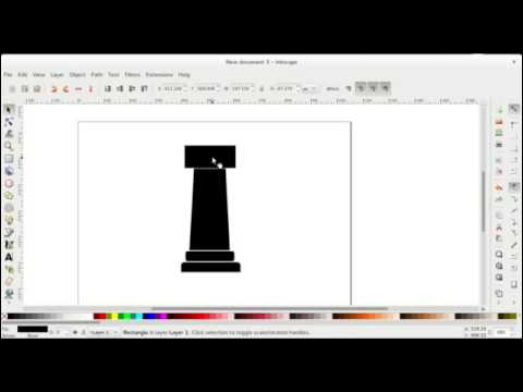 Drawing Rook chess piece in Inkscape
