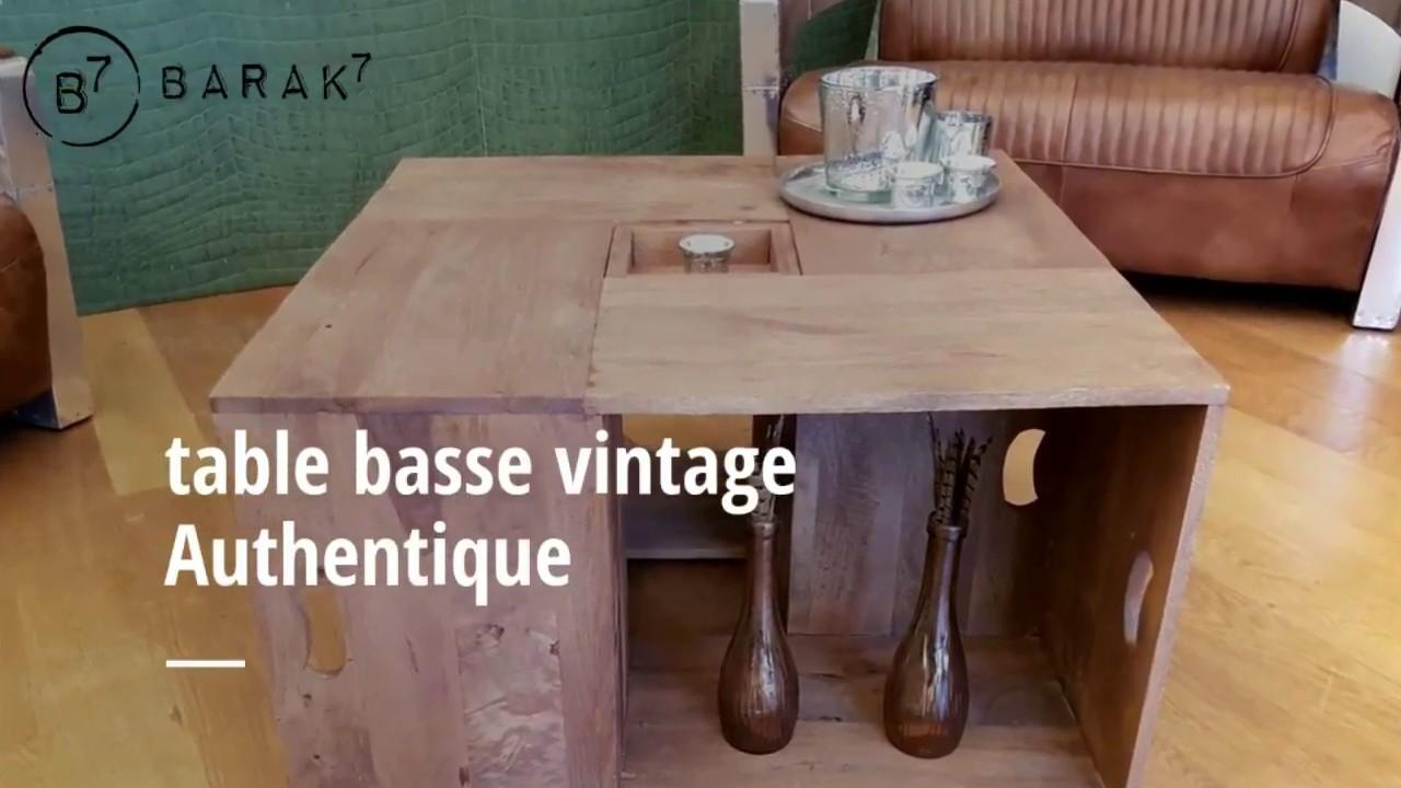 Table basse vintage Authentique