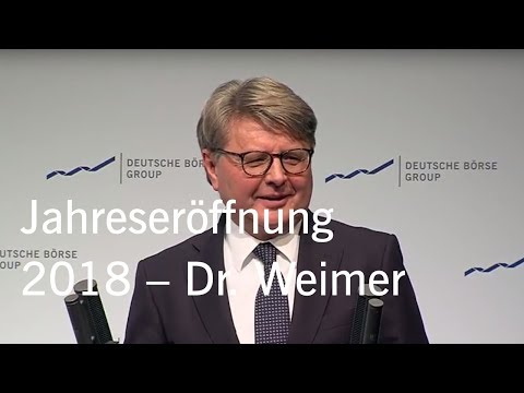 Gruppe Deutsche Börse - Jahreseröffnung 2018 - Rede Dr. Theodor Weimer