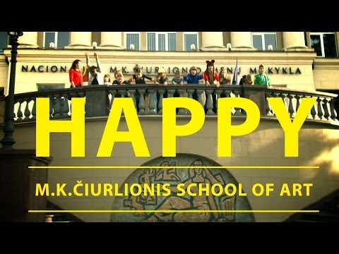 We are HAPPY from M.K.Čiurlionis School of Art (Vilnius) #HAPPYDAY