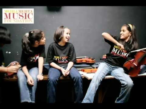 Mehli Mehta Music Foundation Children on Maestro Mehta