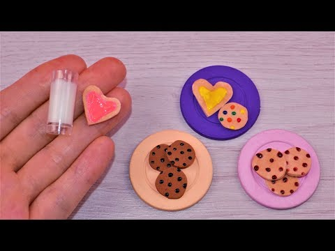DIY Miniature Barbie Glass of Milk 🥛 and 🍪 How to Make Miniature Dollhouse Barbie Things