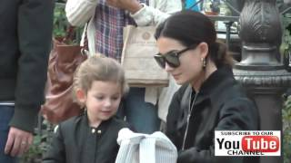 Lily Aldridge and Caleb Followill talks their daughter shopping at The Grove in Hollywood