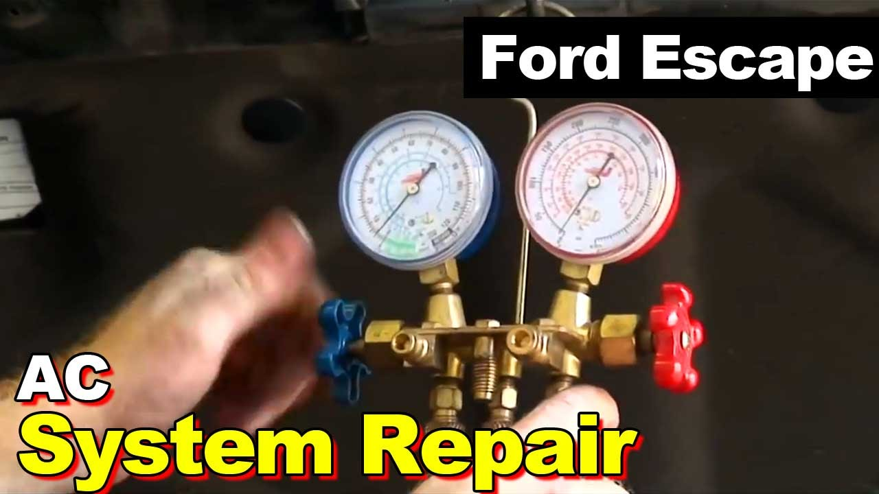 2010 Ford Escape Ac Repair Condenser Auto Transmission Cooler Air Conditioner Wiring Diagram Additionally Furnace Accumulator Drier Expansion Valve Youtube