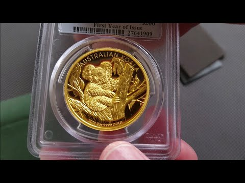 Unboxing Gold; 2013-P $200 (2oz) Australia Koala High Relief Gold Proof Dollar - PCGS PR70DCAM
