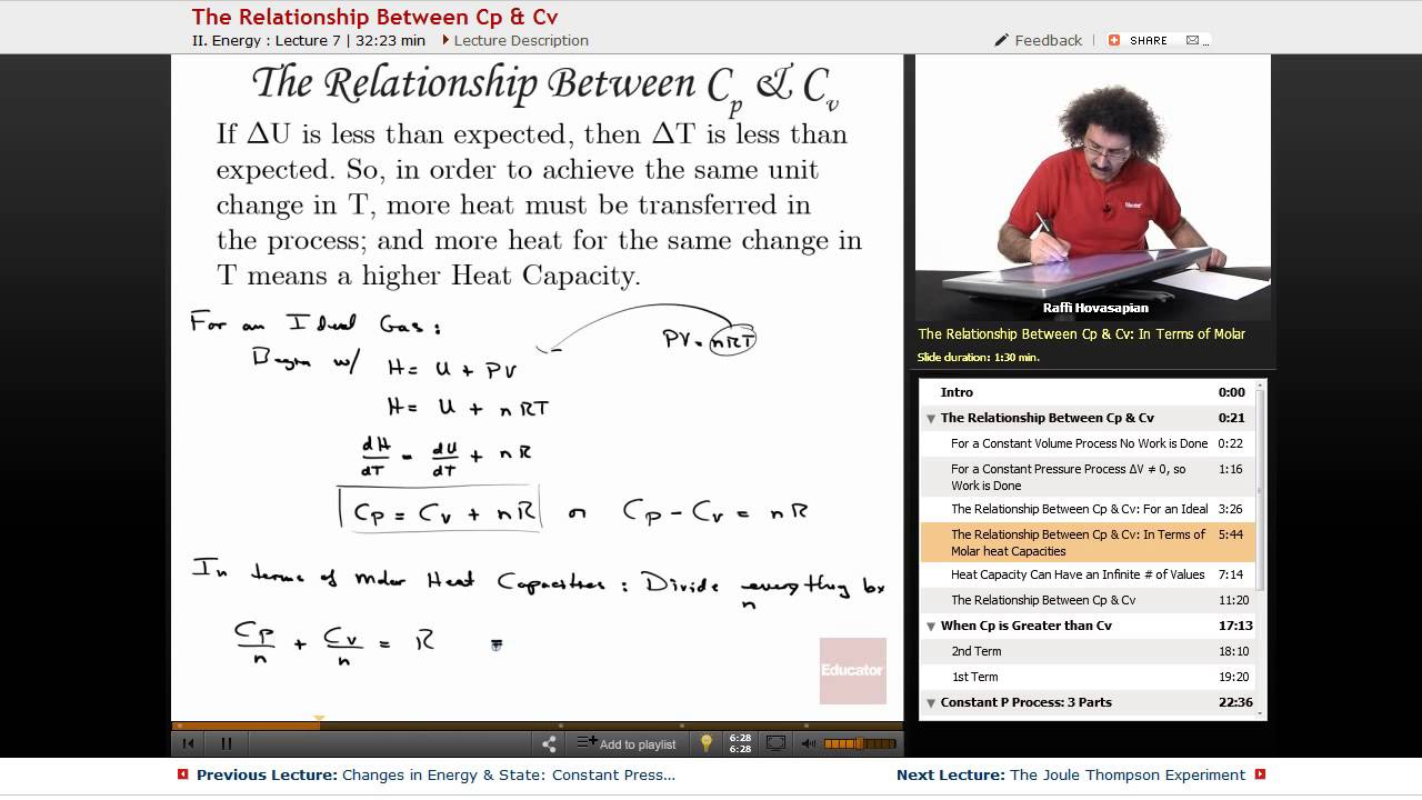 the relationship between cp cv physical chemistry with educator