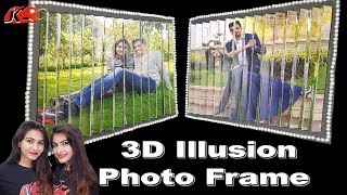 3D Illusion Photo Frame  -  DIY 2 pictures in 1 - JK Arts 1485
