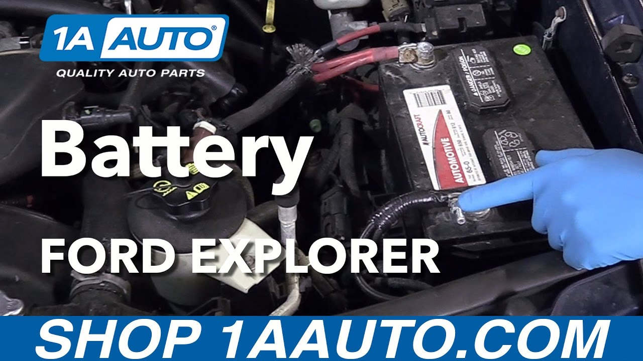 How To Replace Battery 06 10 Ford Explorer