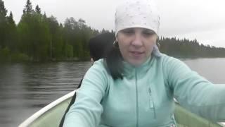 Как мы на даче-рыбу ловили))) Удачный улов!!!