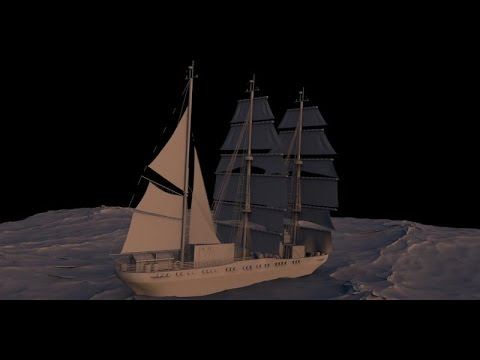 Blender 3D | Simulation of ship | Моделирование корабля | Part 1