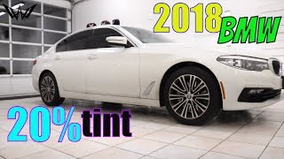 20% Tint on a 2018 BMW 5 Series (winning window tints)