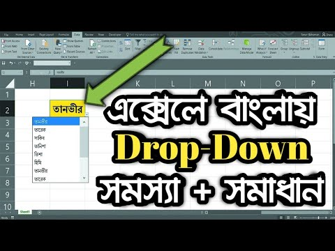 How To Make A Bangla Drop Down In MS Excel | MS Excel Bangla
