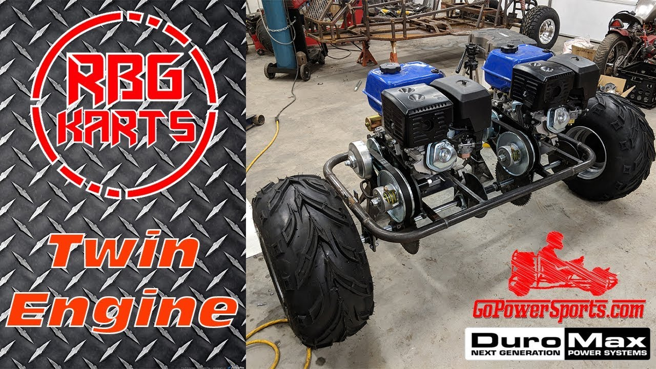 Twin 18hp Engine Go Kart Build Ep2