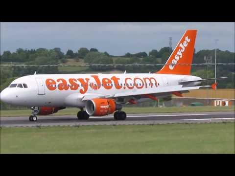 [HD] Bristol Airport Plane Spotting  25/6/2017