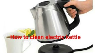Electric kettle cleaning | how to clean boiling kettle