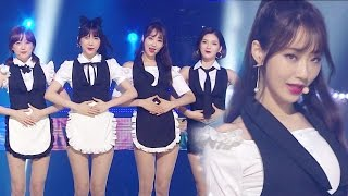 """UNIT"" 9MUSES A (Nine Musi A) - Lip 2 Lip (lips on lips) @ Popular Inkigayo 20160904"