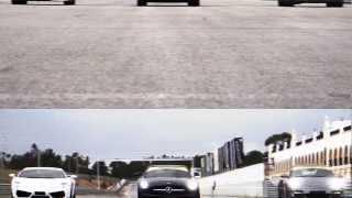 Drag race Mercedes SLS AMG vs. Porsche 911 Turbo S vs. Lamborghini Gallardo LP4-560
