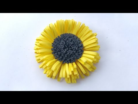 How To Make Flower Out Of Paper || Paper Sunflower
