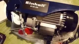 Einhell BT-EH 250 PARANCO ELETTRICO carrucola 11mt