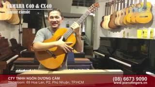 [Unboxing] Đập hộp đàn Guitar Yamaha C40 & CX40  |  PianoFingers.vn
