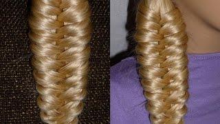 """Прическа """"Необычная коса"""" на каждый день: в школу, на работу для средних и длинных волос"""