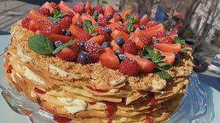 Невероятнo ВКУСНЫЙ торт с КРЕМОМ ПЛОМБИР