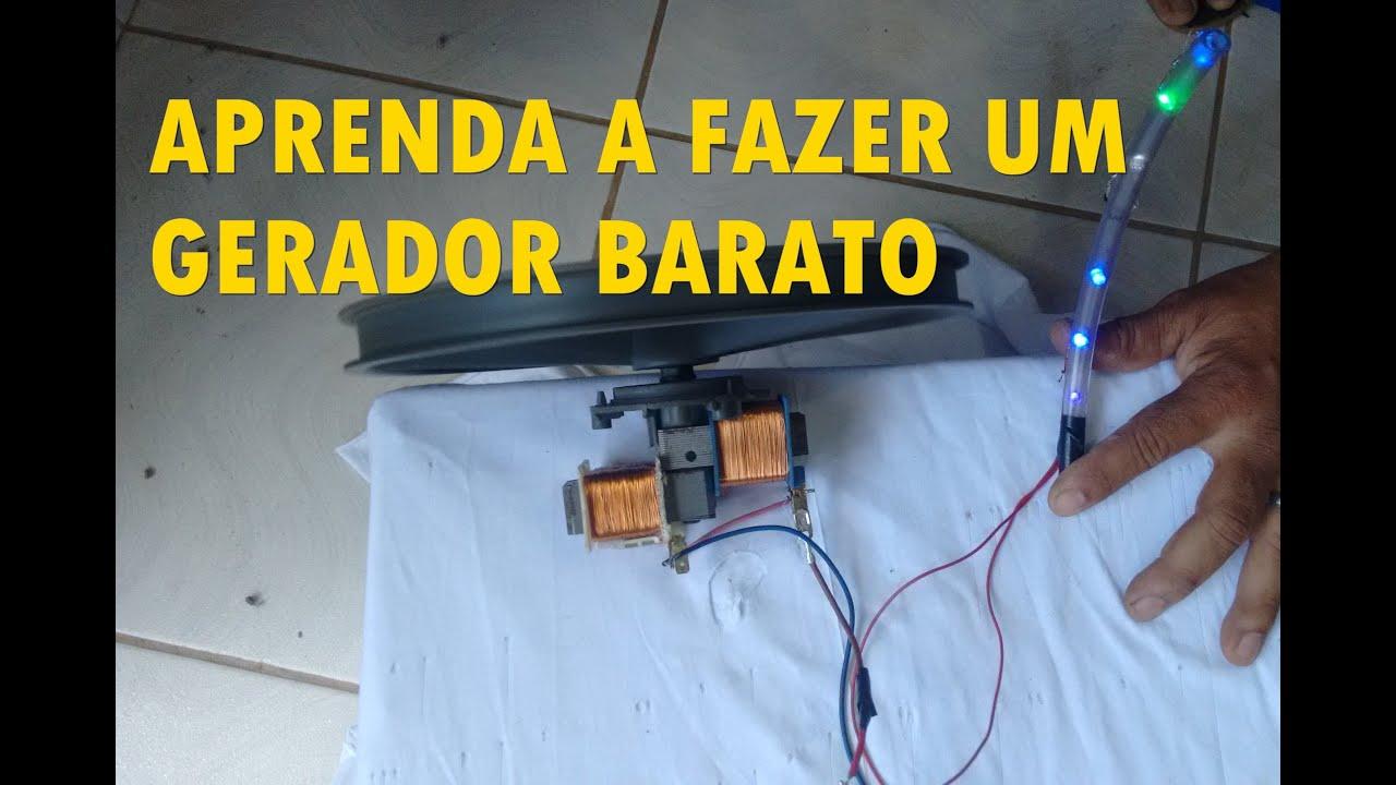 54a192514c0 GERADOR DE ENERGIA SIMPLES E BARATO - YouTube