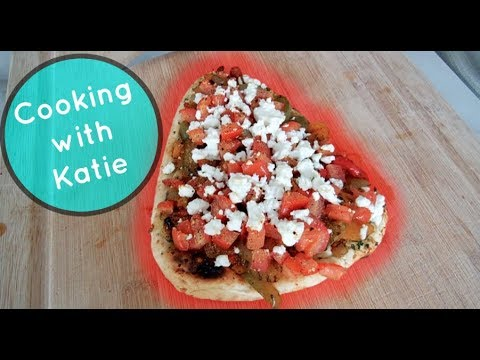 Roasted Vegetable & Feta Flatbread - Cooking with Katie