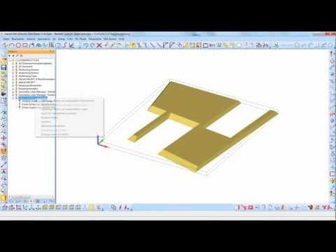 Licom AlphaCAM, 5-achsiges Sägen zwischen Konturen mit 3D Fräsen als Nachbearbeitung