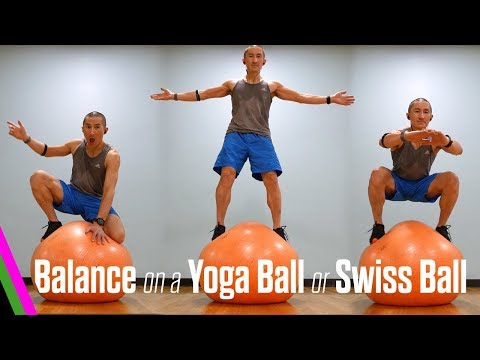 How to BALANCE on a Yoga Ball or Swiss Ball Fitness Friday