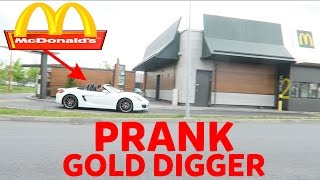 McDonalds PRANK GOLD DIGGER PRANK AN MITARBEITERIN!