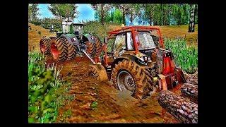 Farming simulator 2017  Pulling out LAMBORGHINI MACH from the mud