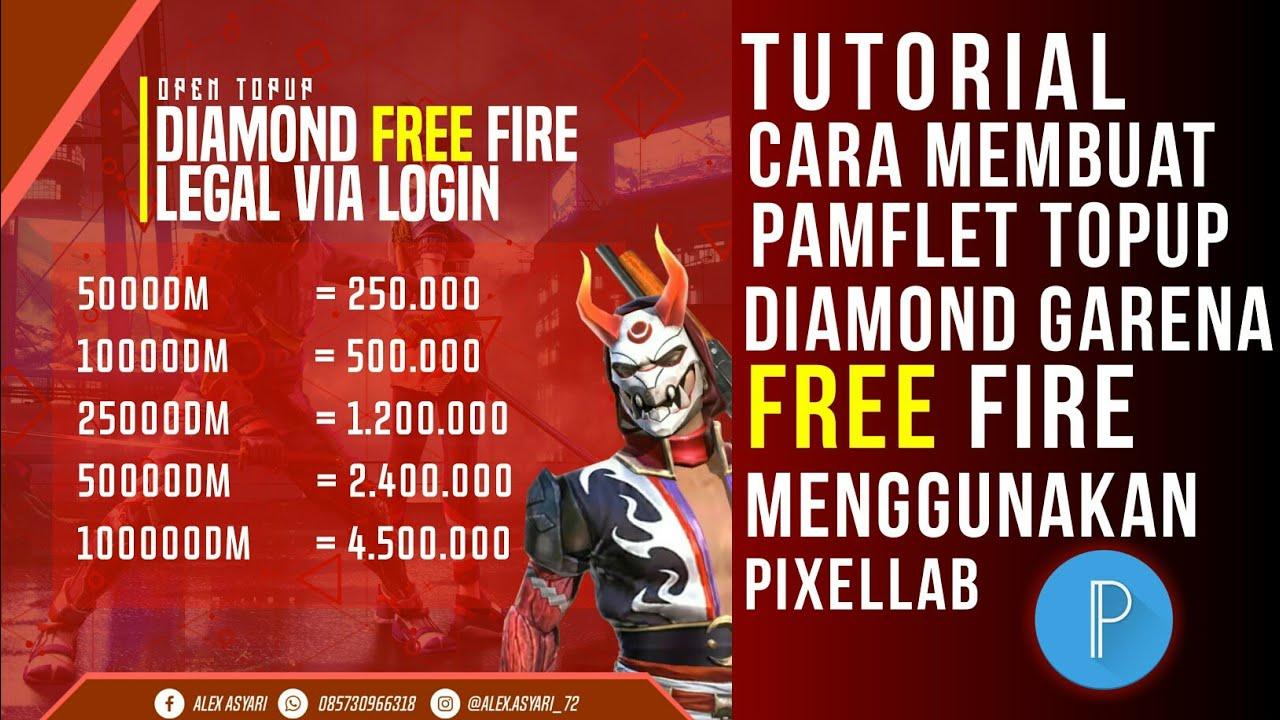 Cara Membuat Pamflet Topup Diamond Free Fire Menggunakan Pixellab Youtube