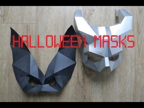 hallloween masks -papercraft - Steve Wintercroft - dutchpapergirl