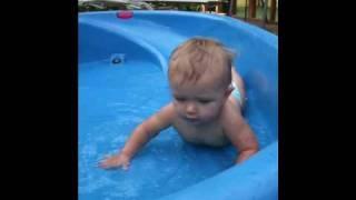 Water slide baby