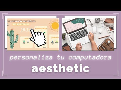 Como PERSONALIZAR el fondo de pantalla de tu computadora - aesthetic-